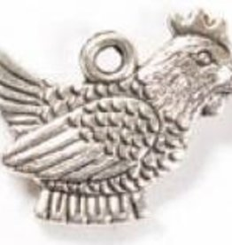 1 PC ASP 20x15mm Chicken Charm