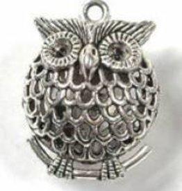 1 PC ASP 34x25mm Puffy Owl Pendant