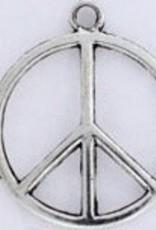 1 PC ASP 28x24mm Peace Sign Charm