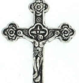 1 PC ASP 35x21mm Cross with Roses Charm