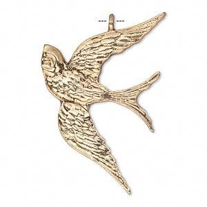 1 PC AGP 39x26mm Bird Pendant