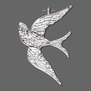 1 PC ASP 39x26mm Bird Pendant