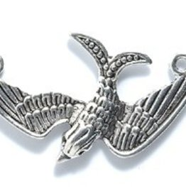 1 PC ASP 33x19mm Bird with 2 Loops Charm