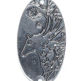 1 PC ASP 36x20mm Horse 2 Hole Charm
