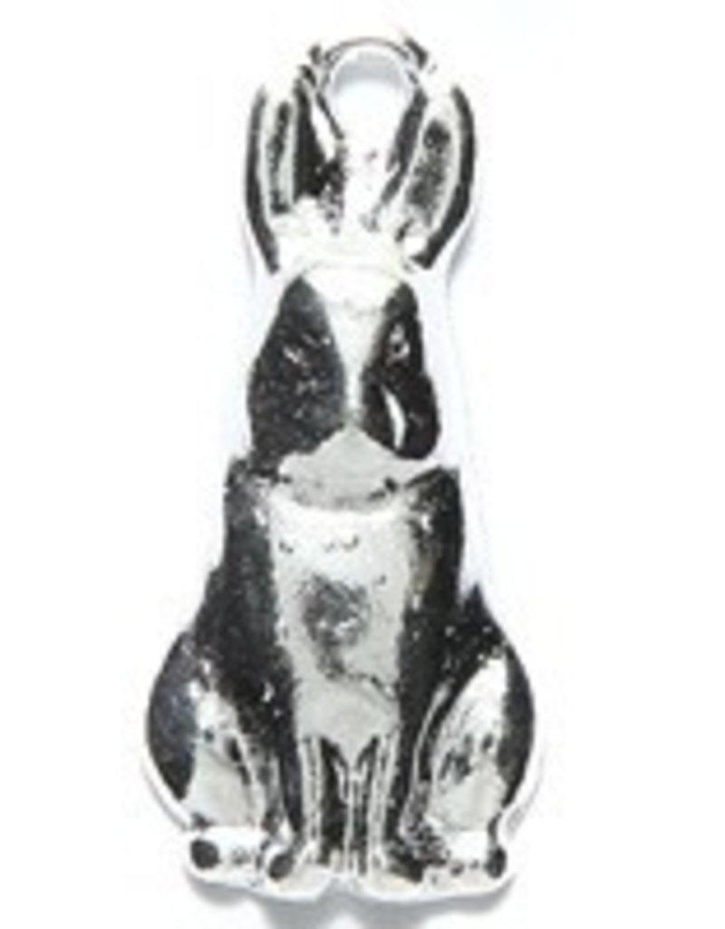 1 PC ASP 26x11mm Sitting Rabbit Charm