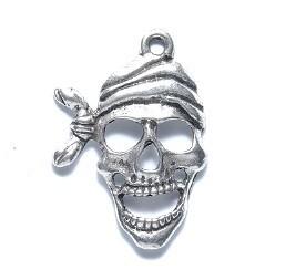 1 PC ASP 27x19mm Pirate Skull Charm
