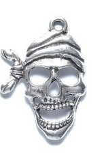 1 PC ASP 27x19mm Pirate Skull Charm