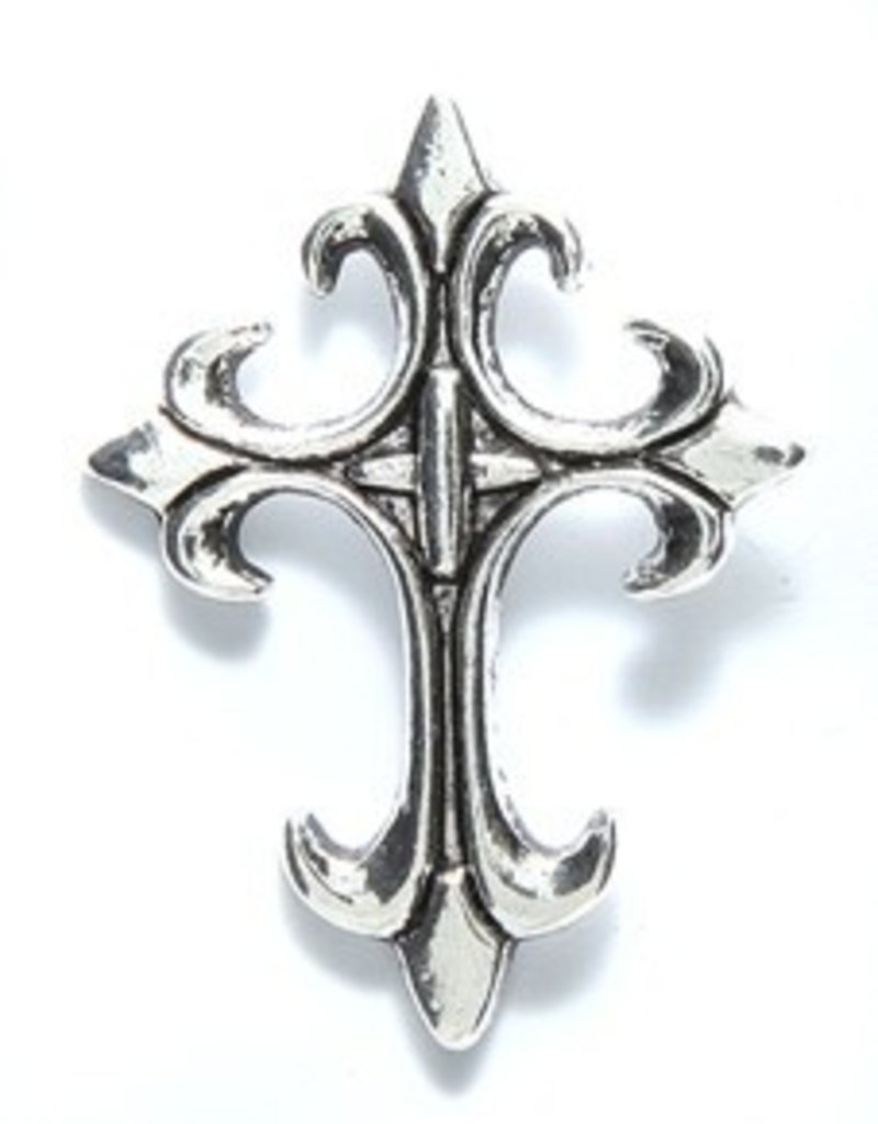 1 PC ASP 32x24mm Pointed Cross Charm
