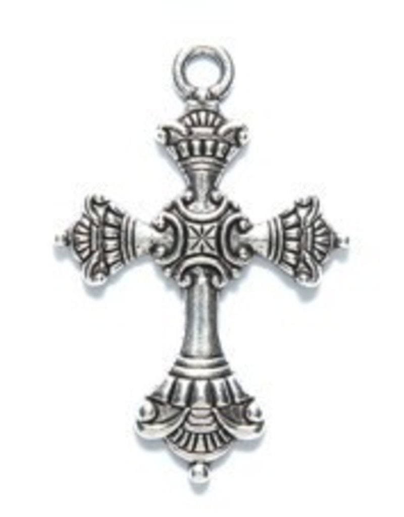 1 PC ASP 37x24mm Cross with Design Pendant