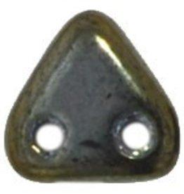 10 GM 6mm 2 Hole Triangle : Iris Brown