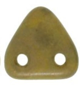 10 GM 6mm 2 Hole Triangle : Chartreuse - Copper Picasso
