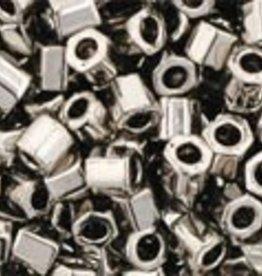 10 GM Toho 8/0 Hex : Nickel