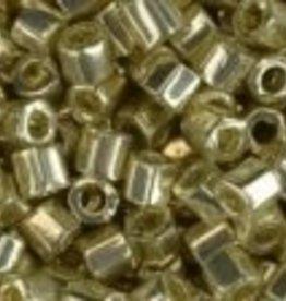 10 GM Toho 8/0 Hex : Galvanized Silver