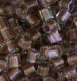 10 GM Toho 8/0 Hex : Inside-Color Crystal/Rose-Lined