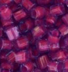 10 GM Toho 8/0 Hex : Inside-Color Aqua/Dk. Pink-Lined