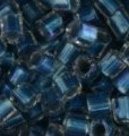 10 GM Toho 8/0 Hex : Inside-Color Crystal/Blue-Lined