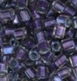 10 GM Toho 8/0 Hex : Inside-Color Crystal/Purple-Lined