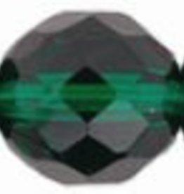 25 PC Firepolish 10mm : Emerald