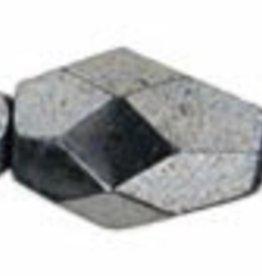 25 PC Firepolish 7x5mm Teardrop : Hematite