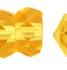 50 PC Firepolish 6x3mm Rondell : Medium Topaz