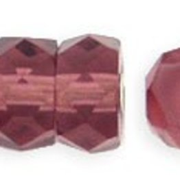 50 PC Firepolish 6x3mm Rondell : Amethyst