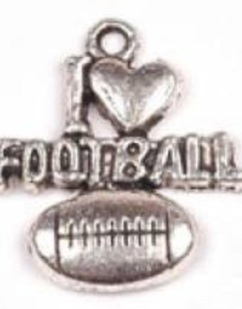 "1 PC ASP 20x18mm ""I Love Football"" Charm"