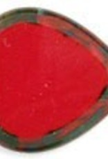 24 PC 15mm Heart : Opaque Red Picasso
