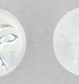 25 PC 9mm Moon Face : Crystal Matte AB