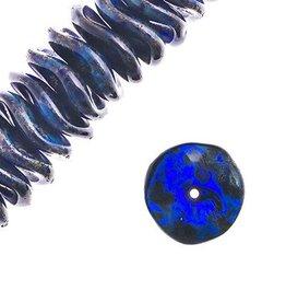 36 PC 12mm Ripple : Tr Dark Blue Travertine