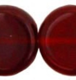 25 PC 8x3mm Dime : Ruby