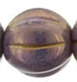 25 PC 8mm Melon : Opaque Bronzed Smoke Luster