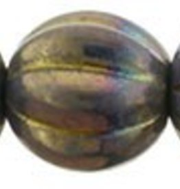 25 PC 8mm Melon : Oxidized Bronze