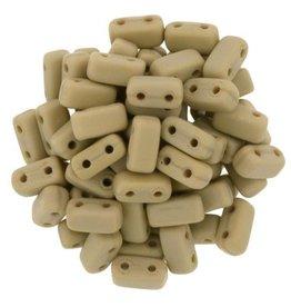 50 PC 3x6mm 2 Hole Bricks : Matte French Beige