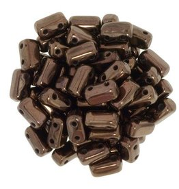 50 PC 3x6mm 2 Hole Bricks : Dark Bronze