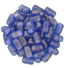 50 PC 3x6mm 2 Hole Bricks : Halo Ultramarine