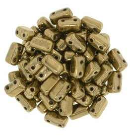 50 PC 3x6mm 2 Hole Bricks : Bronze