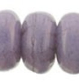 100 PC 3mm Rondell : Opaque Lilac Luster