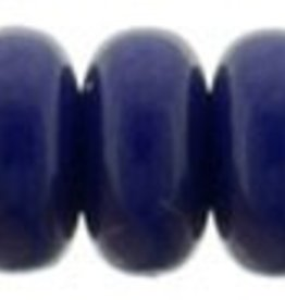 100 PC 3mm Rondell : Opaque Navy Blue