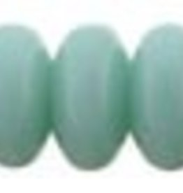 100 PC 4mm Rondell : Opaque Turquoise