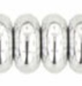 100 PC 4mm Rondell : Silver