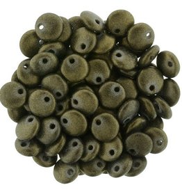 50 PC 6mm Lentil : Chrome Antique Gold