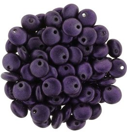 50 PC 6mm Lentil : Chrome Purple