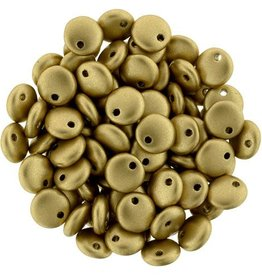 50 PC 6mm Lentil : Matte Metallic Flax