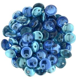 50 PC 6mm Lentil : Mirror Reflection Aqua Midnight