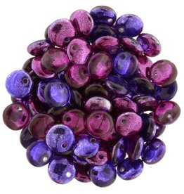 50 PC 6mm Lentil : Mirror Reflection Fuchsia/Grape