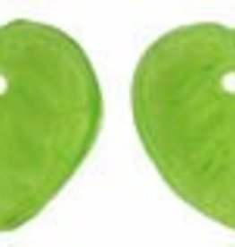 45 PC 10mm Heart Leaf : Olivine