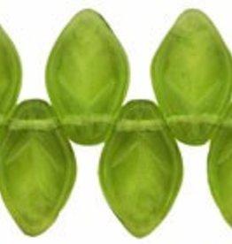 25 PC 7x12mm Leaf : Olivine