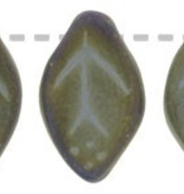 25 PC 7x12mm Leaf : Matte Brown Iris