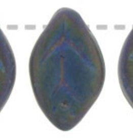 25 PC 7x12mm Leaf : Matte Green Iris