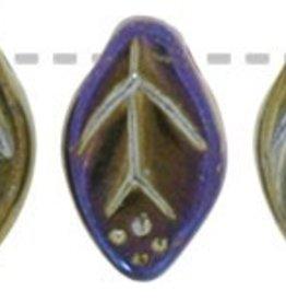25 PC 7x12mm Leaf : Brown Iris
